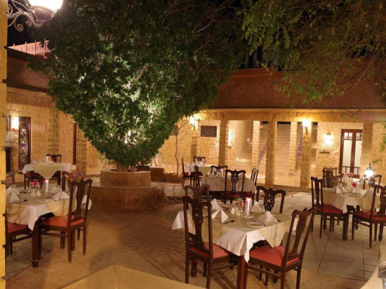 Open courtyard dining